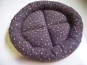 yjimage-6-お花柄のフランネル・丸い猫ベッド