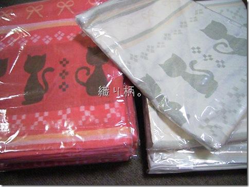 R0098713_thumb-ネコ織り柄 綿ブランケットクロス再入荷&お値下げ。